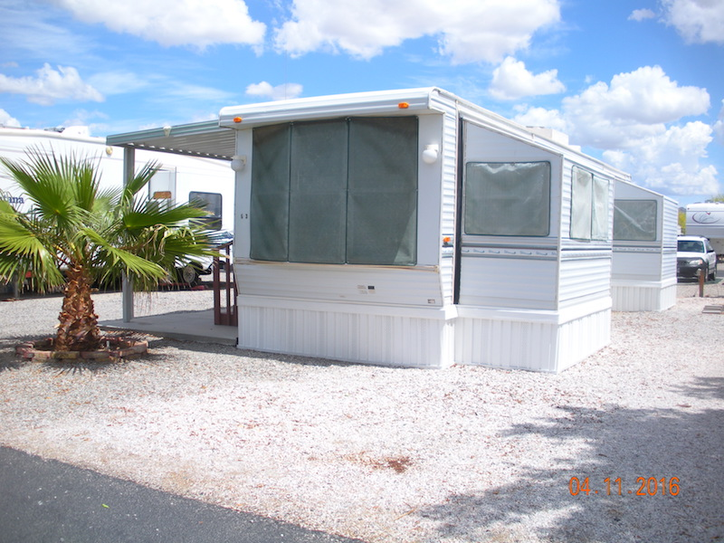 1BD 1BA Washer Gas Stove Refrig Microwave Covered Patio Located In A Beautiful RV Resort With Many Amenities For Sale Or Rent
